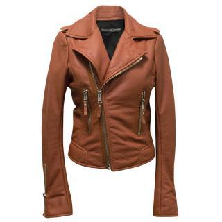 Balenciaga Salmon Leather Jacket