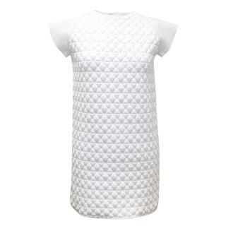 Vionnet White Textured Shift Dress.