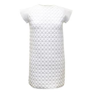 Vionnet White Textured Shift Dress.