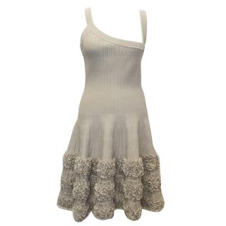 Alaia Silk Blend Taupe Dress