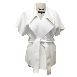 Gucci White Belted Short Sleeve Coat