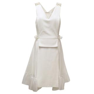 Christopher Kane Cream/White Dress With Screw Details