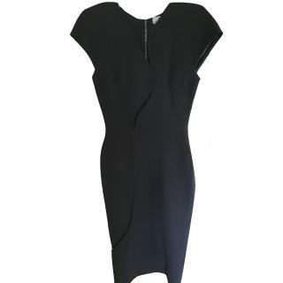Victoria Beckham Black Knee Length Evening Dress