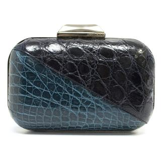 Jimmy Choo Blue and Green Cloud Clutch