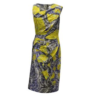 Peter Pilotto Multi coloured Silk Dress with Ruched Side