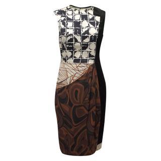 Dries Van Noten Silk Multicoloured Print Dress