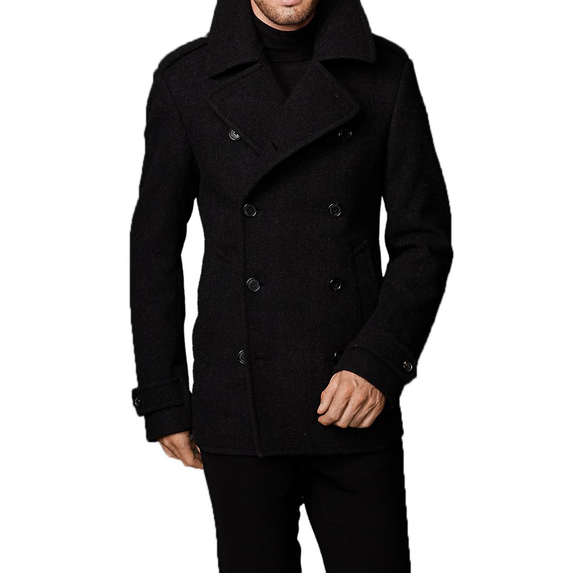 super popular elegant in style terrific value Ralph Lauren Purple Label Wool Herringbone Pea Coat
