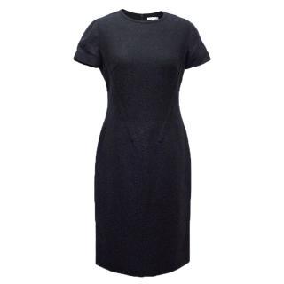 Paule Ka Navy Blue Short Sleeve Dress