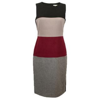 Paule Ka Wool Multicolour Block Dress.