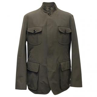 Tom Ford Khaki Grey Jacket With Quilted Lining