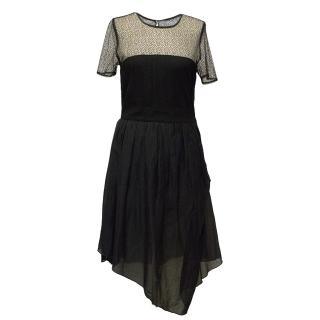 Proenza Schouler Black Dress with Lace Details
