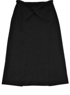 Max Mara soft lana skirt with belt