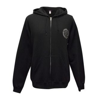 F*cking Awesome Black Hoodie With White Logos