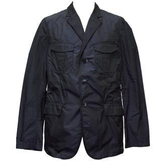 Etro Navy Blue Waterproof Jacket