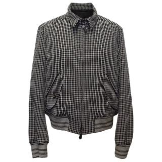 Tom Ford Black and White Check Blazer-Style Zip Jacket
