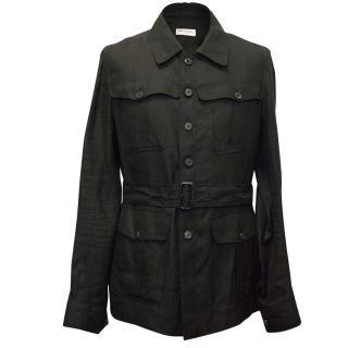 Dries Van Noten Black Linen Jacket