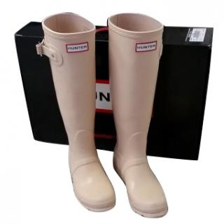 HUNTER rain boots, size 36, Biscuit colour