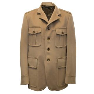 Tom Ford Camel Coat with 4 Front Pockets