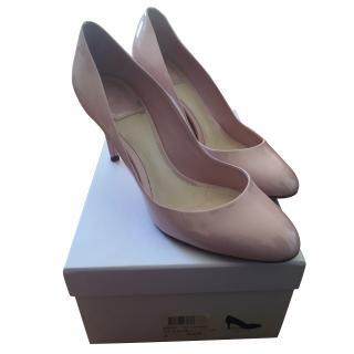 Christian Dior pale pink, round toe pump