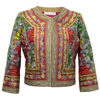Oscar de la Renta Multicolour Embroidered Jacket