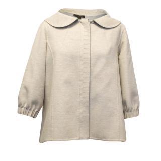 Louis Vuitton Cream Wool Blend Jacket