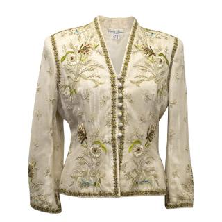 Eavis & Brown Silk Jacket With Flower Embroidery
