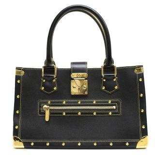 Louis Vuitton 'Le Fabuleux' Black Bag With Gold Studs
