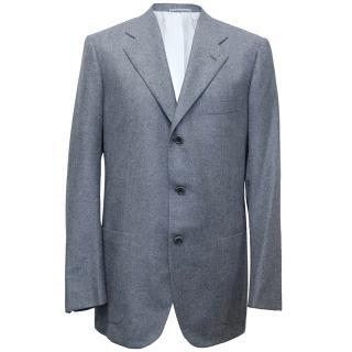 Kiton Blue Cashmere Blazer