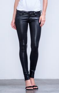 Citzens of Humanity black leatherette low rise racer skinny jeans