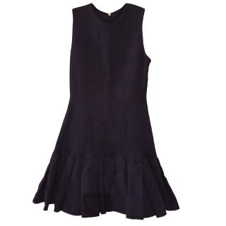 Kenzo Blue Diamond Knit Drop Waist Dress