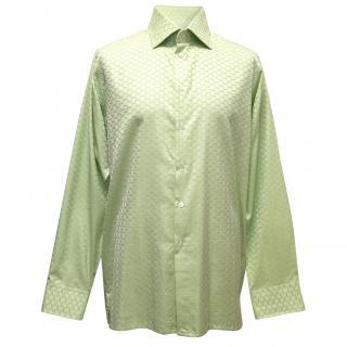Richard James Green Print Dress Shirt