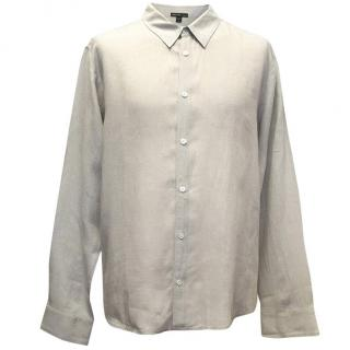 James Perse Taupe Linen Button Down Shirt