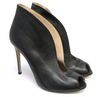 Gianvinito Rossi Vamp 105 leather ankle boots