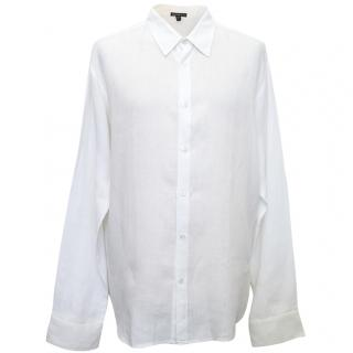 James Perse White Linen Shirt