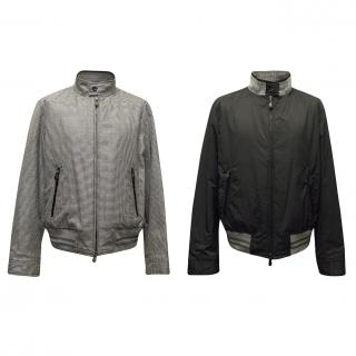 Tom Ford Reversible Black and Grey Check/ Black Bomber