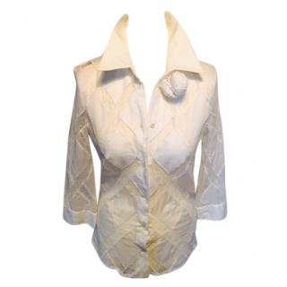 Victor & Rolf White Lace Shirt