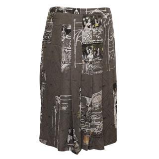 Hermes Grey Ladies In Theatre Silk Skirt
