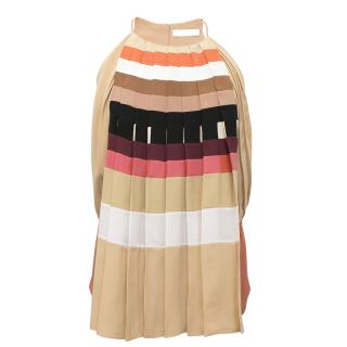 Chloe Multicoloured Striped Top With Pleats