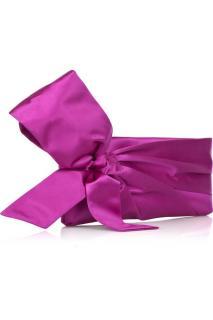 Valentino Bow Satin Wristlet