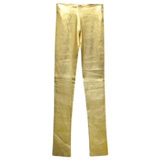 Jitrois 32- Gold Leather Leggings
