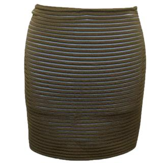 Vionnet Brown and Blue Skirt
