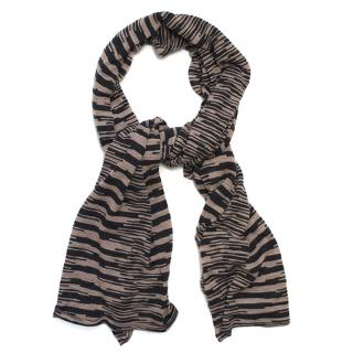 Missoni Black & Dusty Pink Cashmere-Blend Scarf