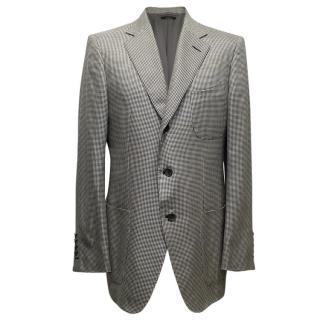 Tom Ford Black and White Dog Tooth Check Blazer