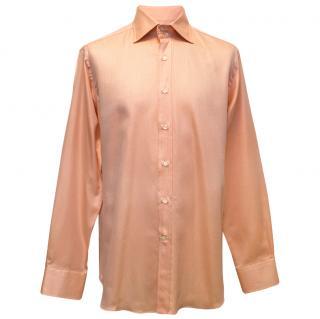 Etro Orange Button Down Shirt