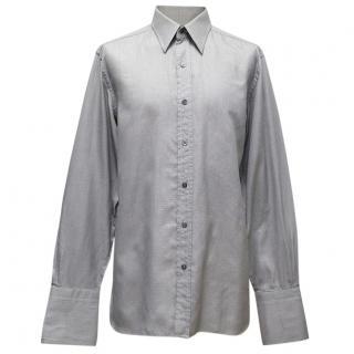 Tom Ford Grey Textured Dress Shirt
