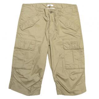 Uniqlo Beige Cotton Blend Shorts