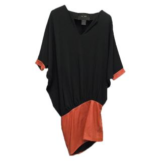 Jay Ahr Black Dress With Orange Leather