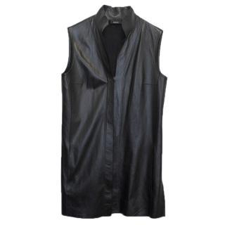 Akris Black Leather Vest