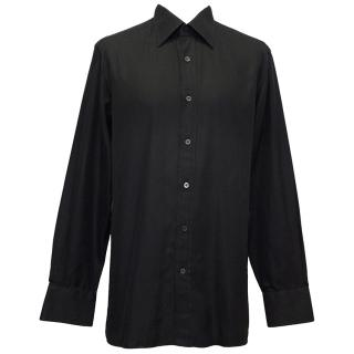 Tom Ford Black Cotton Dress Shirt