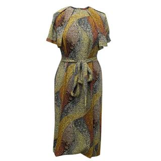 Missoni Multicoloured Print Silk Dress with Belt